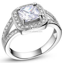 Newest Crystal platinum ring price in india