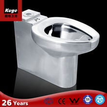 Foshan KUGE stainless steel P-trap toilet bowl