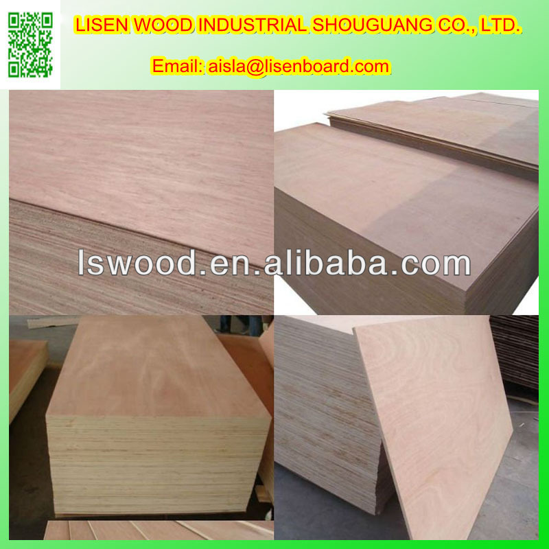 18mm Bintangor Face and Back Commercial Plywood/16mm Okoume Plywood
