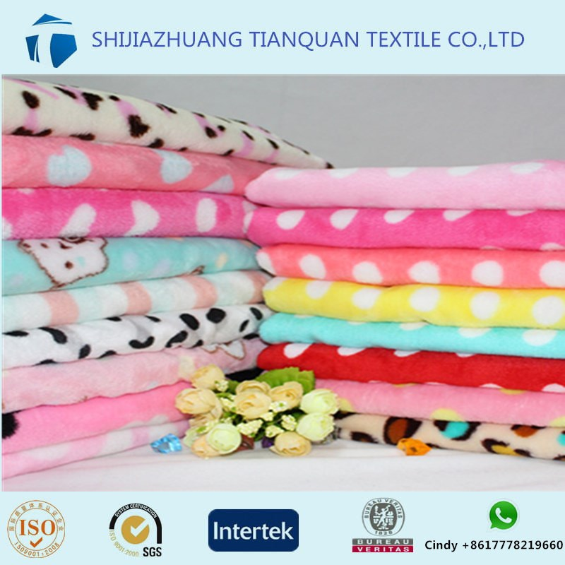 polyester velvet jacquard & printed sofa fabric spandex cotton Solid dyeing flannel fabric 100 cotton flannel