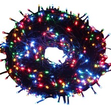Rainproof Holiday Wedding Indoor Christmas decoration RGB LED String Lights with US EU plug