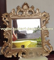 Decorative Frame Mirror with Gold Leaf - Indoor Furniture Jepara