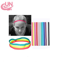 European And American Pop Candy Color Elastic Rope Yoga Belt Running Headband Football Cleats Hair Hoop