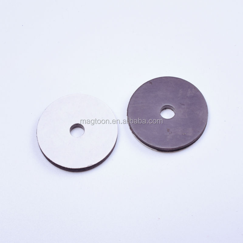 dongguan factory price round rubber magnet sheet
