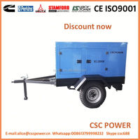Factory Price!! 50kw water cooled diesel generator without canopy