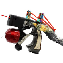 Slingshot Fishing with Fish Bladders and Spear Laser Aiming Slingshot