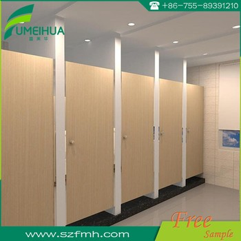 Fumeihua hpl toilet cubicle partition with stainless steel accessories