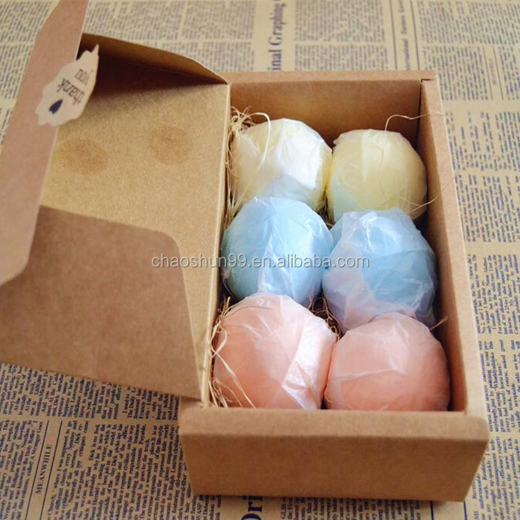Bath fizzies bath bomb gift set packaging
