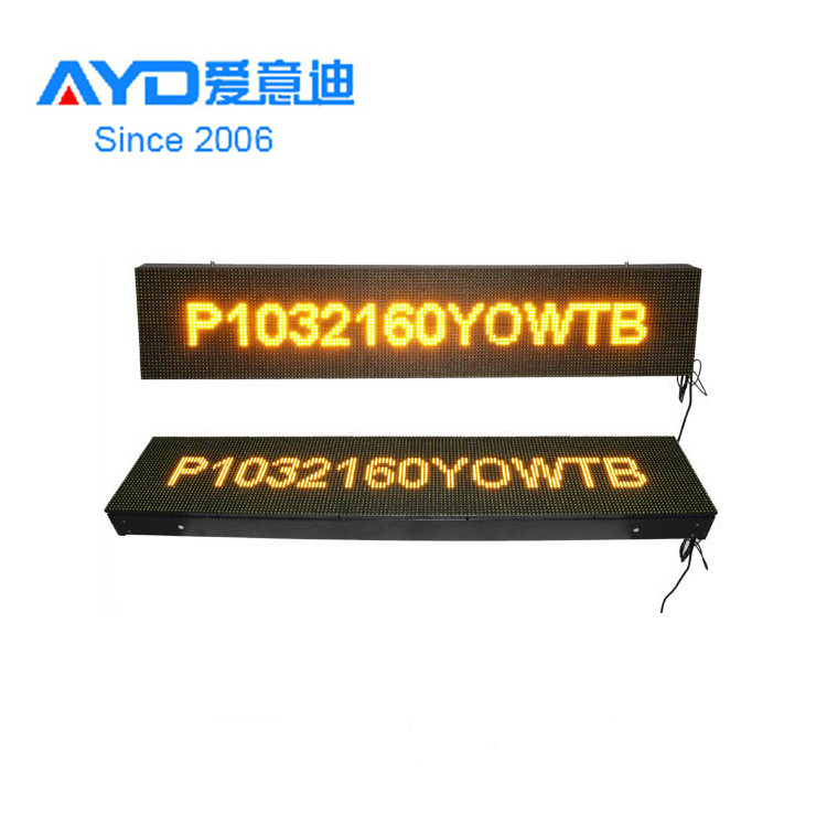 Programmable <strong>P10</strong> <strong>3</strong> <strong>Color</strong> RGY LED Sign Electronic LED Message Display With WIFI Control
