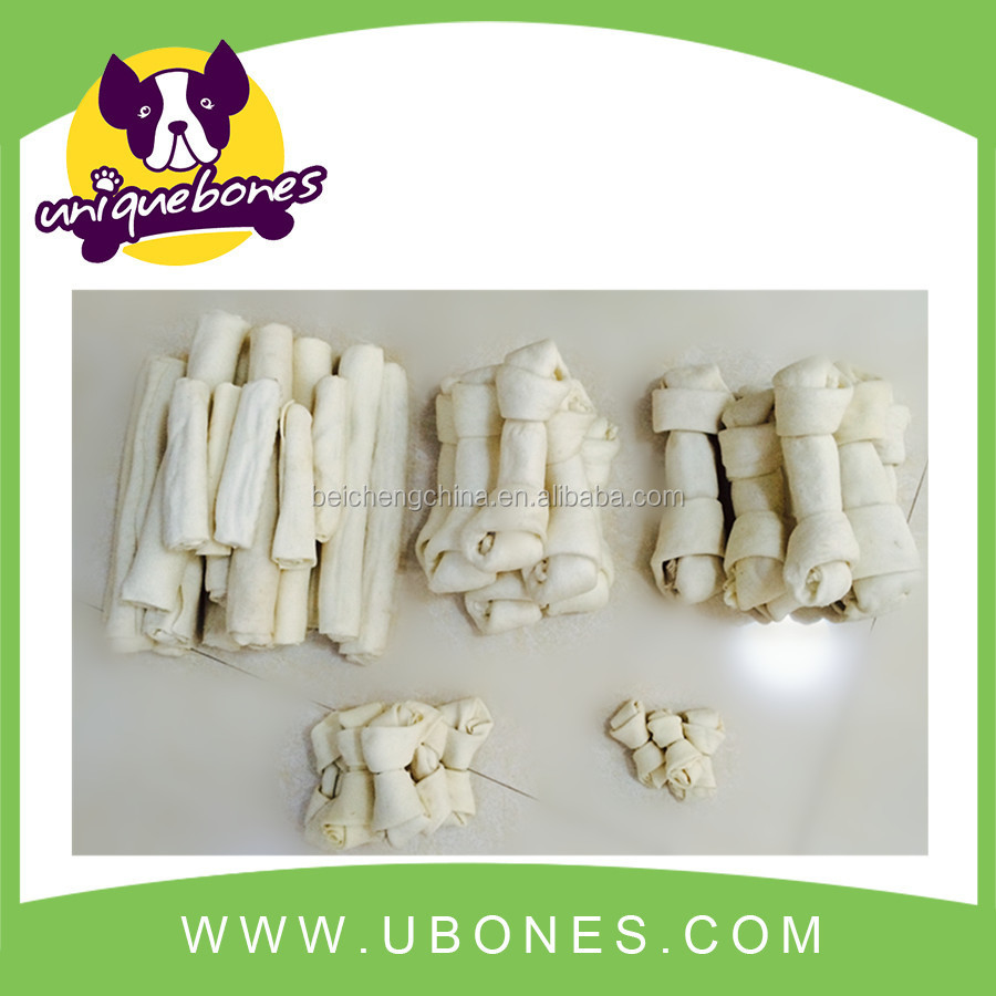 pet products 100%cow skin rawhide dog bones white bone dog treat ball FOODS PRODUCTS WHOLESALE
