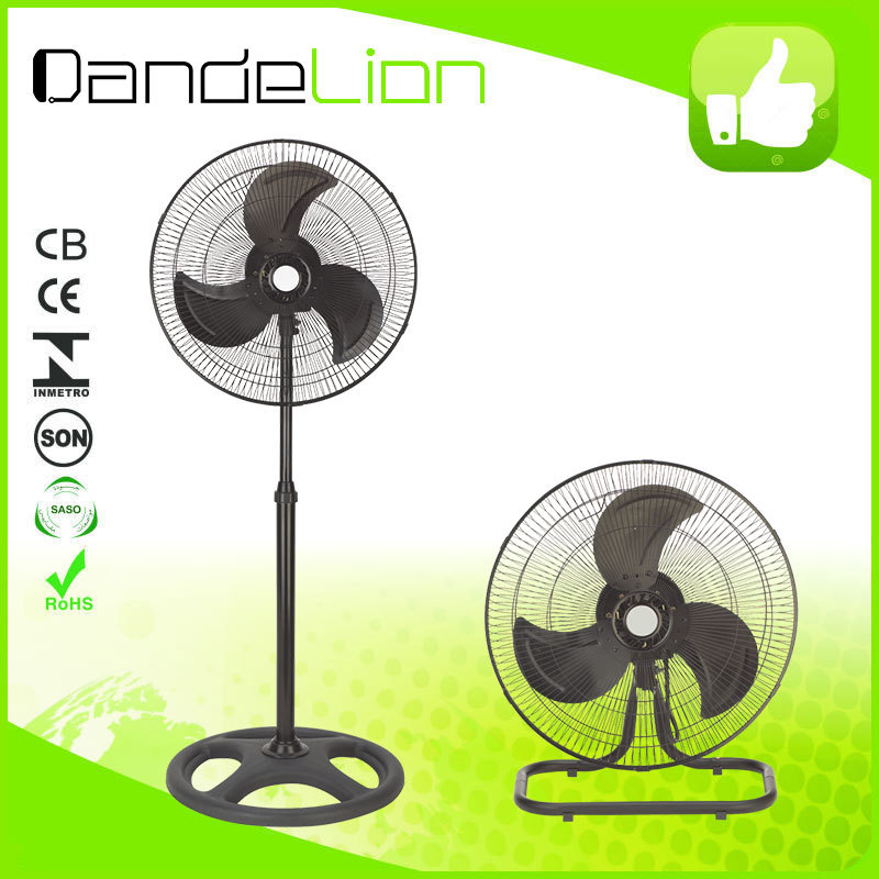 24 month gurantee 18 inch metal powerful big industrial fan 2 in 1/pedestal fan with air cooler A14