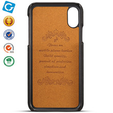 PU Leather Back Case Cover With Credit Card Holder For iPhoneX