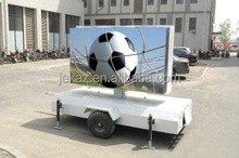 Shenzhen Factory sale single/double face mobile led trailer sign for advertising