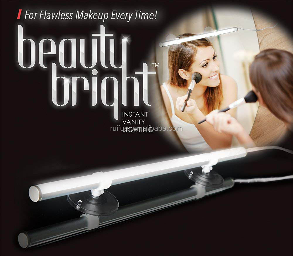 Bathroom Makeup Beauty Cosmetic Bright Instant Vanity Lighting, Portable Vanity Dimmable LED Mirror Light