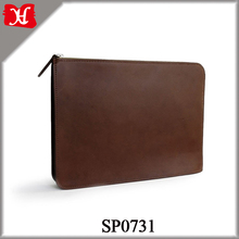 High Quality Genuine Leather Tablet PC Sleeve Leather Computer Bag