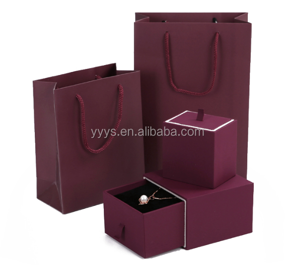 Purple Paper Jewerly box in high quality