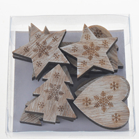 New products 5cm wooden carved craft customized shaped decoration