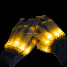 light up glove/ blinking LED Gloves /Multicolor led finger light gloves