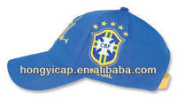 the cotton modern football caps and hats/snapback caps for brazilian fussball fans in fifa world cup 2014