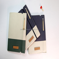 customized cloth cover notebook with a pencil for office supply 2016