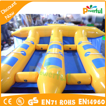 pvc adults inflatable water games flyfish banana boat with best price