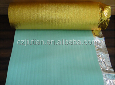 2mm 3mm Blue Silver EPE Foam Underlay For Laminate Floor