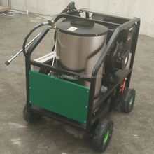 CE new mobile diesel 30 bar steam , 200 bar hot water, 50 bar industrial enginer steam jet car wash machine price for sale