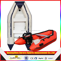 Factory price aluminum floor inflatable fishing boat cheap on sale