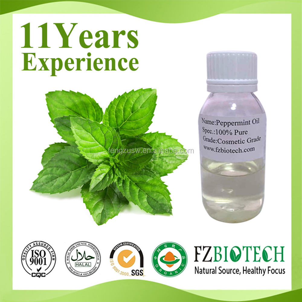 China Manufacturer Bulk Production Free Sample mint 34% Peppermint Oil