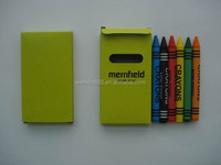 customized 6 pcs crayon with paper box for promotion