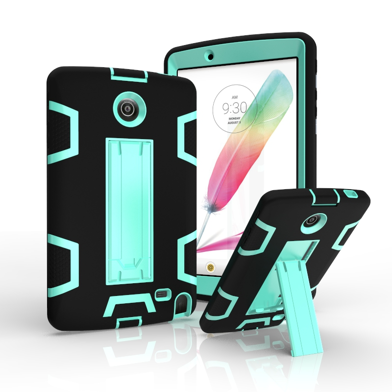 With Kick stand Full Protect TPU and PC hard Combo back Shockproof Cover for LG G Pad2 8.0 v498 v496 Case