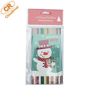 Customized Hot Sale Christmas Printing Paper Pouch Money Holder