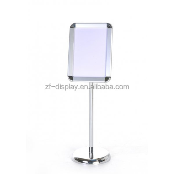 Similar Products Contact Supplier Leave Messages A3, A4 polished display sign stand/menu sign post/adjustable poster stand