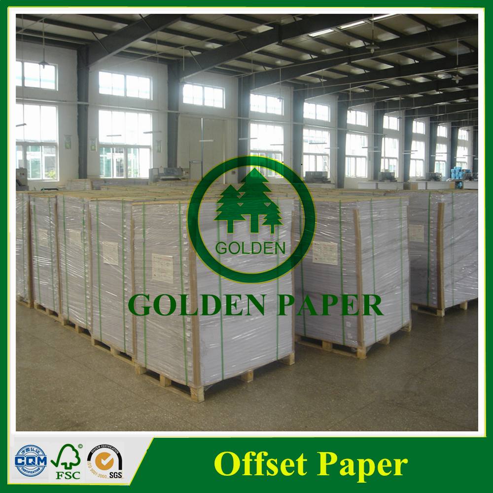 60g ~ 180g Indonesia Korea USA offset printing paper in sheet or roll