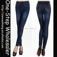 Fashion wholesale young sex girls ladies seamless jean leggings