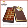 Colorful paper chocolate packaging box with ribbon