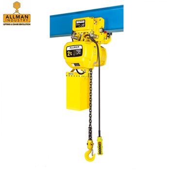 ALLMAN 2Ton electric chain hoist 20' lift height with pendant control and FEC80 Japan Chain