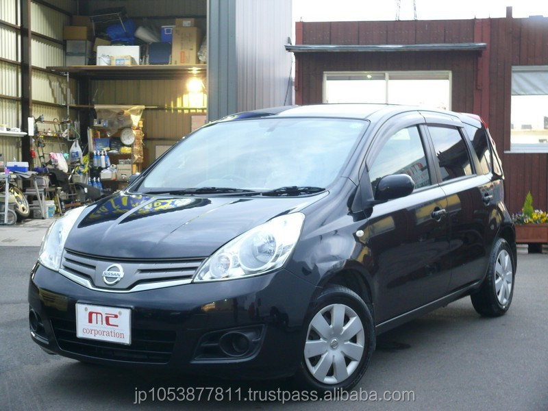 nissan note black 2009 export to japan used car