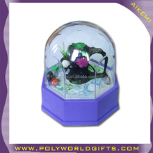 Plastic Acrylic Water Globe deco with 3D figural insert,artifical plastic water globe souvenirs,acrylic water globe diy