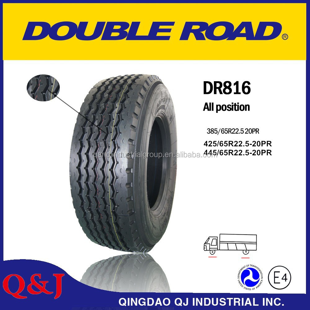 Chinese Doublestar Doubleroad brand 315-80R22.5 385 - 65R22.5 truck tyres with high quality for Senegal and west africa
