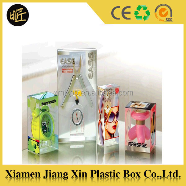Good quality clear plastic box packaging custom size