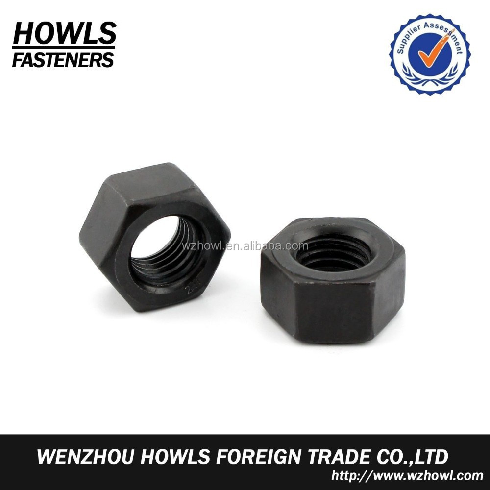 carbon steel galvanized/black/zp/HDG/plain high strength/tensile A194-2H hex heavy nut