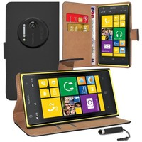 High Quality PU Leather Wallet Flip Case Cover For Nokia Lumia 1020