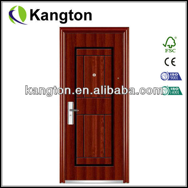 Cheap exterior steel door red security steel door