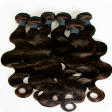 Virgin Human Hair Extensions Brazilian Body Wave 3 Bundles with Lace Closure Free Part