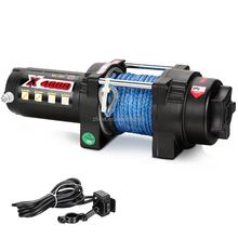 12V UTV 4000lbs mini electric winch with synthetic rope