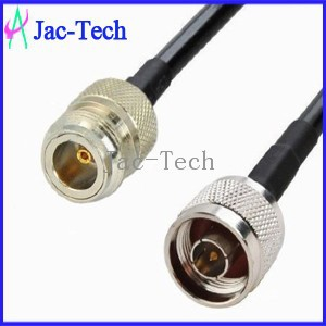 Electrial power connectors cable custom N plug to jack with RG58 cable assemble jumper