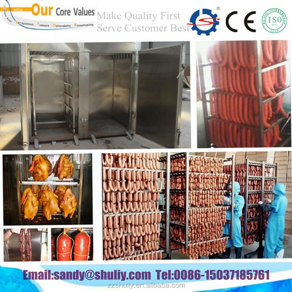 CE approved meat smoking house