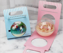 Mousse cake packaging disposable poke bowl packaging portable poke bowl box and paper card carry packaging