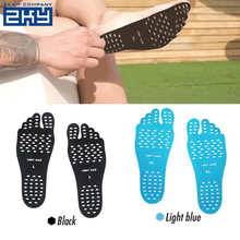 Custom Printed Stick Barefoot Feet Pad Waterproof Nano Material Silicone Foot Insole